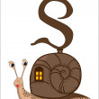 S for Snail — Stock Vector