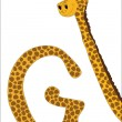 Stock Vector: G for Giraffe