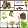 Set of drawings for kids — Stock Vector