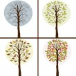 Trees in seasons — Vector de stock #24036537