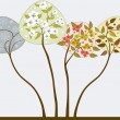 Trees in seasons — Vector de stock #24700249