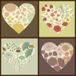 Floral hearts — Stock Vector