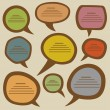 Speech bubbles set — Imagen vectorial