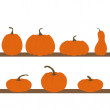 Set of pumpkins isolated — Stock Vector
