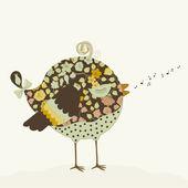Little bird — Stock Vector