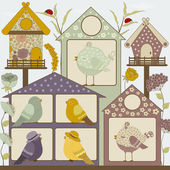 Houses for birds — Stock Vector