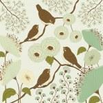 Bird and flowers — Stock Vector