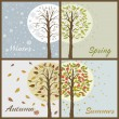 Trees in seasons — Vector de stock