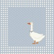 Birthday greeting card with goose — Stock Vector #45328645