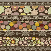 Abstract colorful ornamental pattern — Stockvector