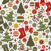 Seamless pattern with Christmas elements  — Stock Vector