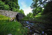 старый арочный каменный мост — Стоковое фото