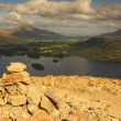 Cairn on Cat Bells — Stock Photo