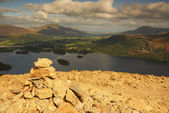 Cairn on top of Cat Bells — Stock Photo