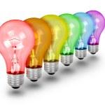 Unique Idea Lightbulbs on White — Stock Photo #12679567