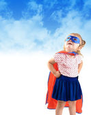 Little Super Hero Rescue Child — Zdjęcie stockowe