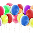 Bright Balloons Background on White — Stock Photo