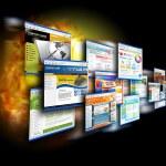 Internet snelheid websites op zwart — Stockfoto