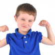 Royalty-Free Stock Photo: Strong Boy with Tough Muscle