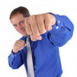Strong Fighting Business Man — Stock Photo