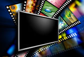 Movie Screen Film Images — Stock Photo