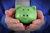 Green Money Piggy Bank — Foto de Stock