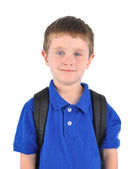 Young School Boy with Bookbag — Stock Photo