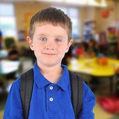 School Boy in Classroom — Stock Photo