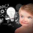 Young Science Education Baby on Black — Stock Photo