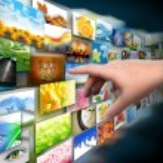 Hand on Media Technology Photo Gallery — Stock Photo #15632109