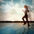 Fitness Exercise Woman Running — Stock Photo