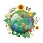Green Nature Earth Icon — Stock Photo