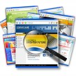 Stock Photo: Internet Web Site Search Collage