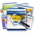 Internet Web Site Search Collage — Stock Photo