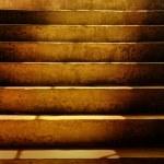 Dark Dirty Grunge Stairs — Stock Photo