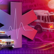 Royalty-Free Stock Photo: Medical Rescue Ambulance Abstract Photo