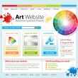 Stock Vector: Internet Art Website Template