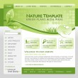 Green Nature Website Template — Vector de stock #16210931
