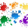 Colorful Paint Splatters — Stock Vector