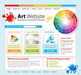 Plantilla de sitio web internet arte — Vector de stock