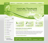 Green Nature Website Template — Stock Vector