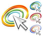 Internet Arrow Cursor Logo — Stock Vector