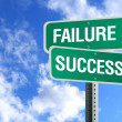 Stock Photo: Success And Failure Sign With Clouds