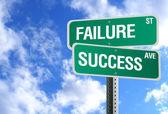 雲との成功と失敗の記号 — ストック写真