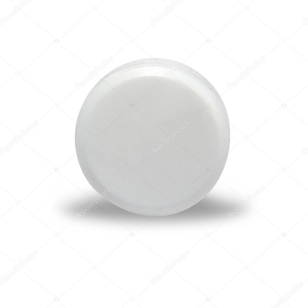 White round pills blank white round pill stock