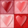 Valentine Hearts in Boxes — Stock Photo