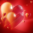 Red Hearts in Love — Stock Photo
