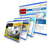Technologie internet websites staande — Stockfoto
