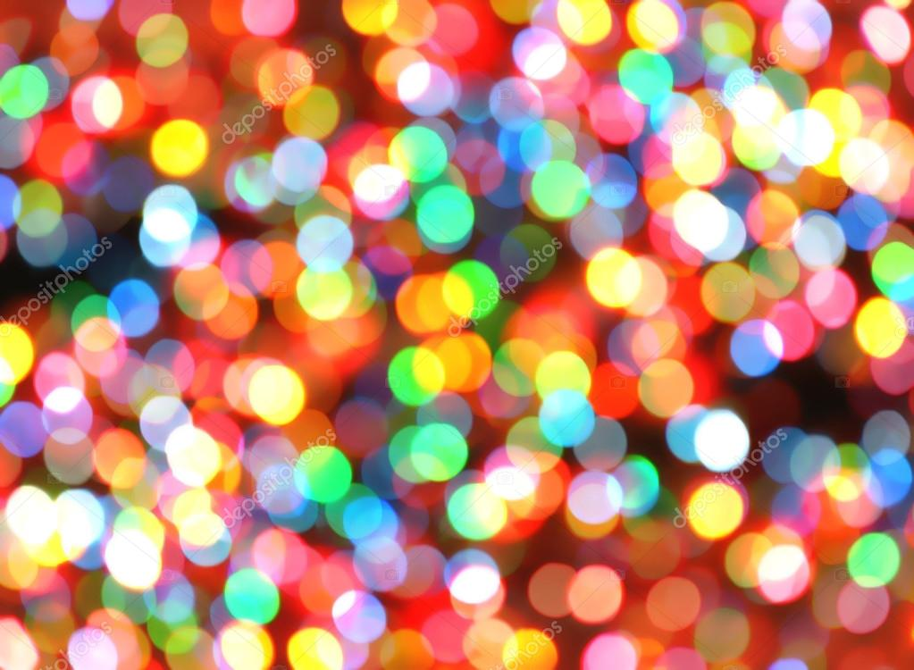 Bright colorful christmas lights background stock photo