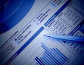 Blue Business Financial Chart Graph — Stock Photo